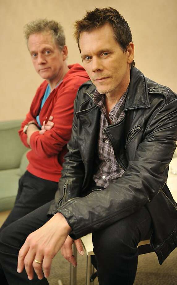"""US actor Kevin Bacon (R) poses next to his brother Michael Bacon in Cologne, western Germany on May 7, 2010. 'The Bacon Brothers' latest CD 'New Year's Day' was released in Europe on May 7th, 2010.  US actor Kevin Bacon (R) poses next to his brother Michael Bacon in Cologne, western Germany on May 7, 2010. """"The Bacon Brothers"""" latest CD """"New Year's Day"""" was released in Europe on May 7th, 2010. AFP PHOTO  DDP/  HENNING KAISER       GERMANY OUT (Photo credit should read HENNING KAISER/AFP/Getty Images) Photo: HENNING KAISER/AFP/Getty Images, AFP/Getty Images"""