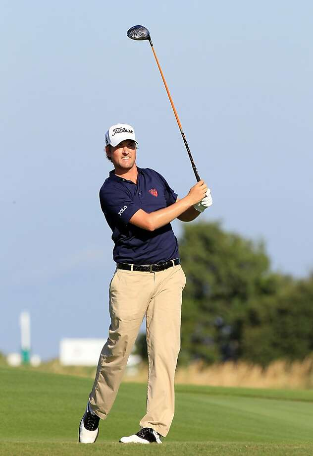 SEA ISLAND, GA - OCTOBER 13:  Webb Simpson plays a shot on the 16th hole during the first round of the McGladrey Classic at Sea Island's Seaside Course on October 13, 2011 in Sea Island, Georgia.  (Photo by Sam Greenwood/Getty Images) Photo: Sam Greenwood, Getty Images