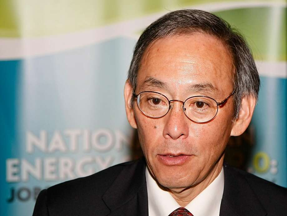 LAS VEGAS - AUGUST 10:  U.S. Secretary of Energy Steven Chu is interviewed during the National Clean Energy Summit 2.0 at the Cox Pavilion at UNLV August 10, 2009 in Las Vegas, Nevada. Political and economic leaders are attending a two-day summit to discuss a domestic policy agenda to advance alternative energy for the country's future.  (Photo by Ethan Miller/Getty Images)  Ran on: 08-16-2009 Energy Secretary Steven Chu criticizes China's and India's use of coal.  Ran on: 10-23-2010 U.S. Secretary of Energy Steven Chu is a Nobel Prize winner who served on the faculties of both Stanford University and UC Berkeley. Photo: Ethan Miller, Getty Images