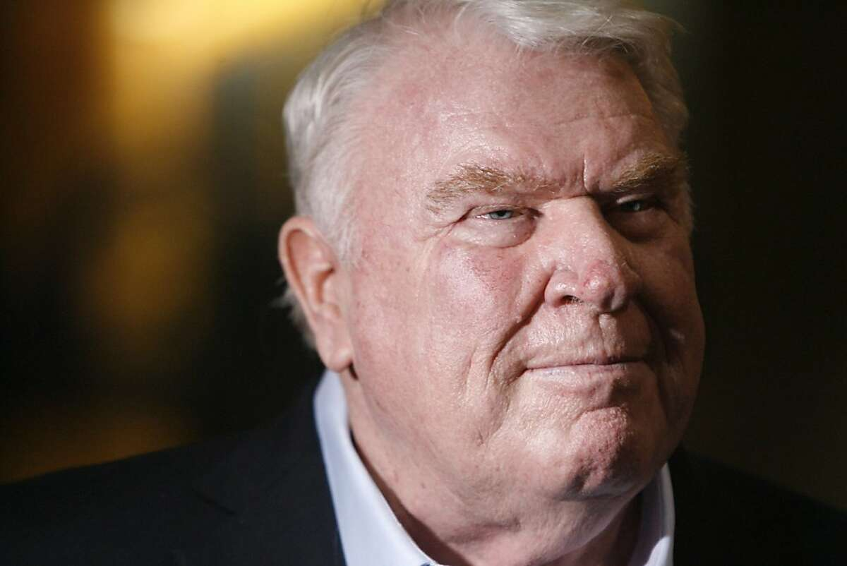FILE - In th is Jan. 27, 2009 file photo, broadcaster John Madden is photographed at a news conference at the Tampa Convention Center in Tampa.Madden, the burly former coach who has been one of pro football's most popular broadcast analysts for three decades, is calling it quits. Madden worked for the past three seasons on NBC's Sunday night NFL game. His last telecast was the Super Bowl between Arizona and Pittsburgh. (AP Photo/St. Petersburg Times, Chris Zuppa, File) ** OUT ST. PETE, LAKELAND, BRADENTON, WINTER HAVEN, MAGS OUT ** Ran on: 04-17-2009