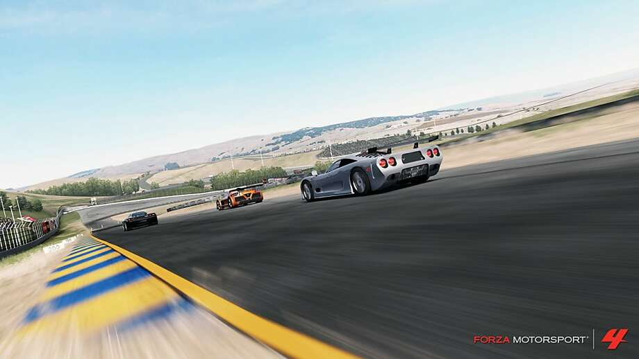 Sonoma's Infineon Raceway is a featured track in Forza Motorsport 4. Photo: Microsoft