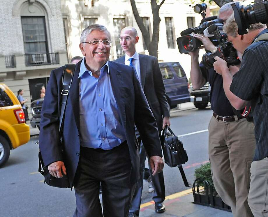 NBA Commissioner David Stern arrives for labor talks, Monday, Oct. 10, 2011, in New York. Facing a Monday deadline to reach a deal or have regular-season games canceled, NBA owners and players have resumed talks toward ending the lockout. (AP Photo/Louis Lanzano) Photo: Louis Lanzano, AP