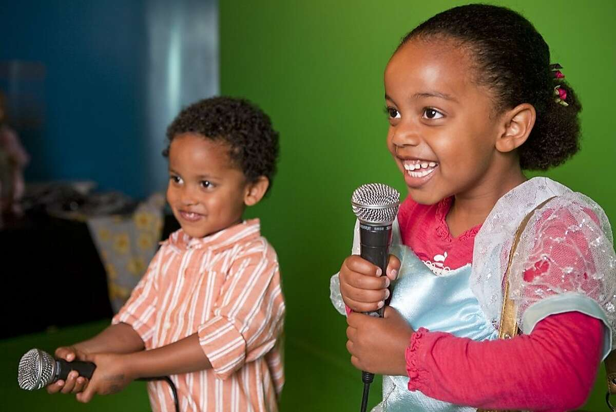 Activities at Children's Creativity Museum include making music videos.