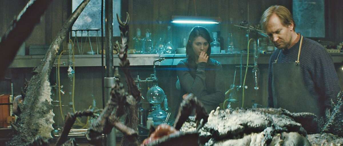 Kate (MARY ELIZABETH WINSTEAD) and Sander (ULRICH THOMSEN) dissect something very disturbing in