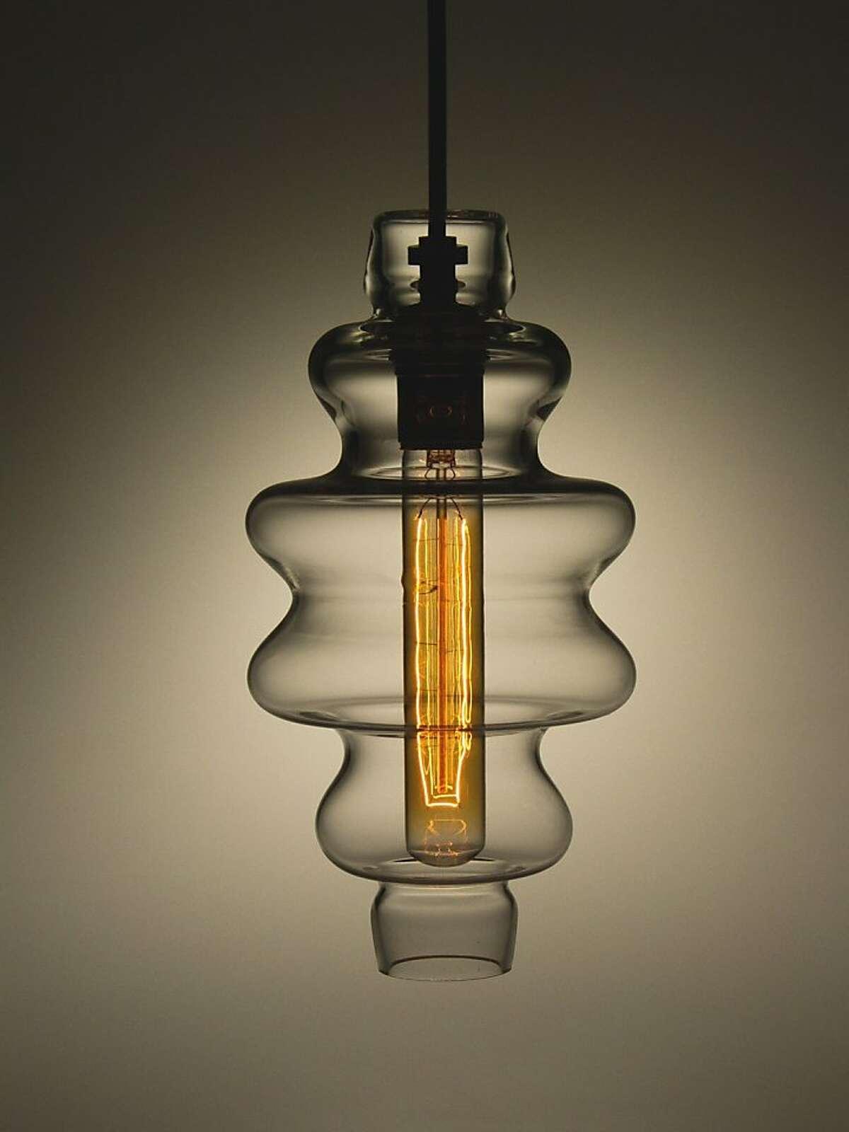 Light fixture from Union Street Glass.