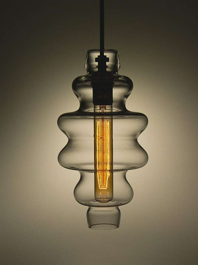 Light fixture from Union Street Glass. Photo: Union Street Glass