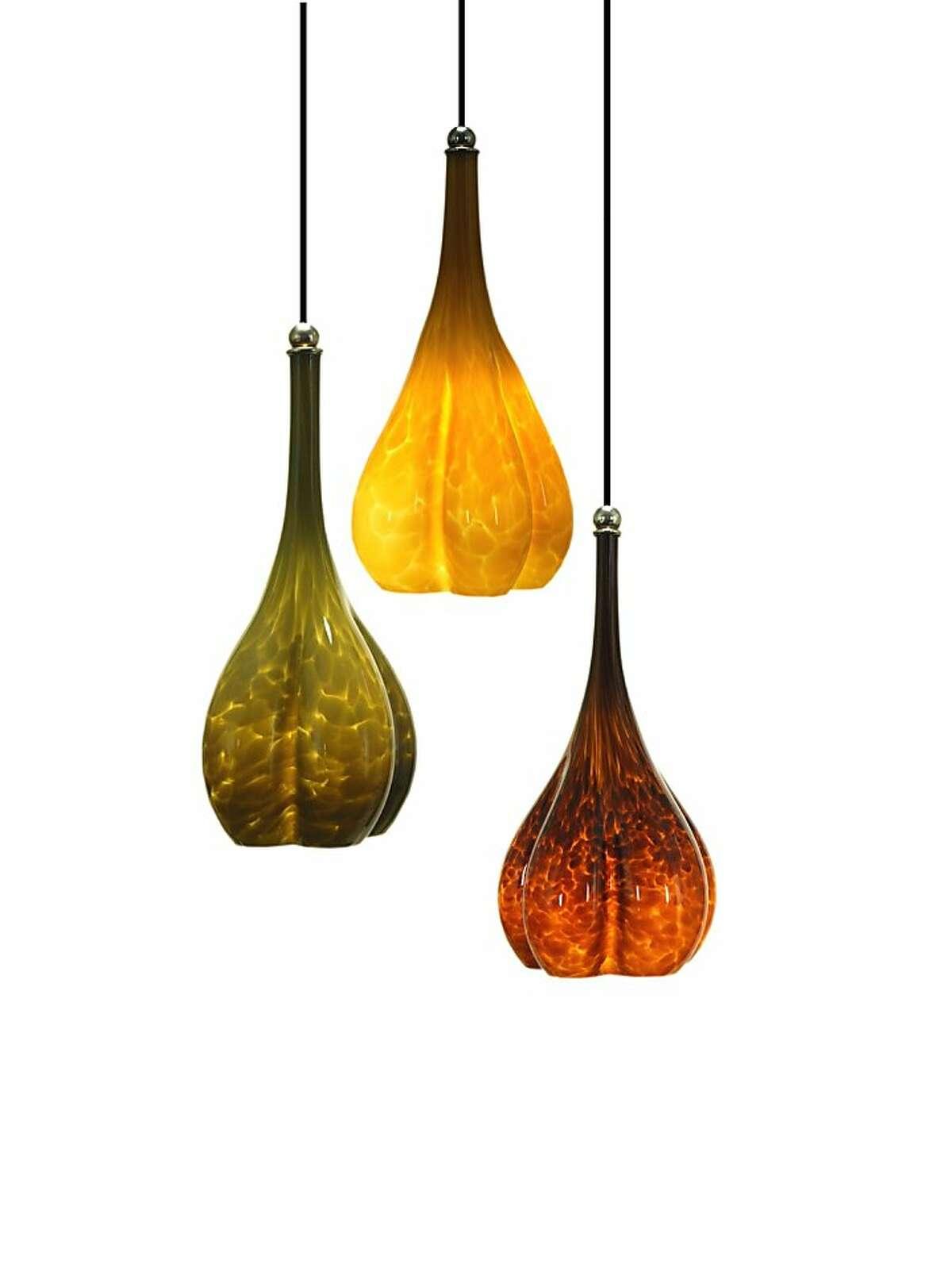 Light fixtures from Union Street Glass.