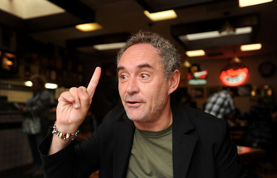 "Chef Ferran Adria discusses his book ""The Family Meal,"" during a visit to San Francisco on Monday, Oct. 10, 2011. Photo: Noah Berger, Special To The Chronicle"