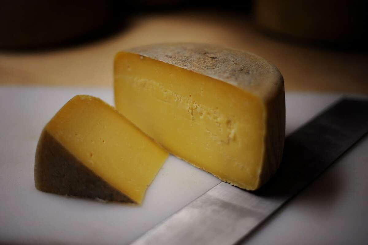 A six-month-aged Estero Gold made in the style of an Asiago cheese at Valley Ford Cheese Co. in Valley Ford, California. October 10, 2011.