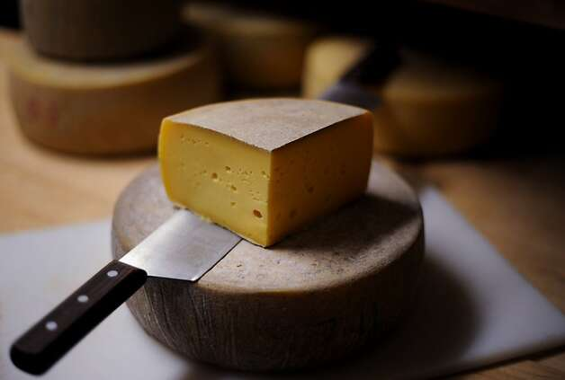 Highway One, a Fontina-style cheese aged for four months at Valley Ford Cheese Co. in Valley Ford, California. October 10, 2011. Photo: Erik Castro, Special To The Chronicle