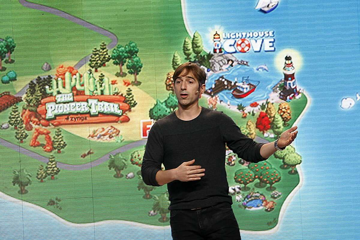 Zynga Inc. CEO and founder Marc Pincus speaking at a news conference at the new Zynga offices in San Francisco, California, on Tuesday, October 11, 2011. Ran on: 10-14-2011 Zynga CEO Marc Pincus will list the company on the Nasdaq Stock Market when it goes public. It plans to raise $1 billion in an IPO.