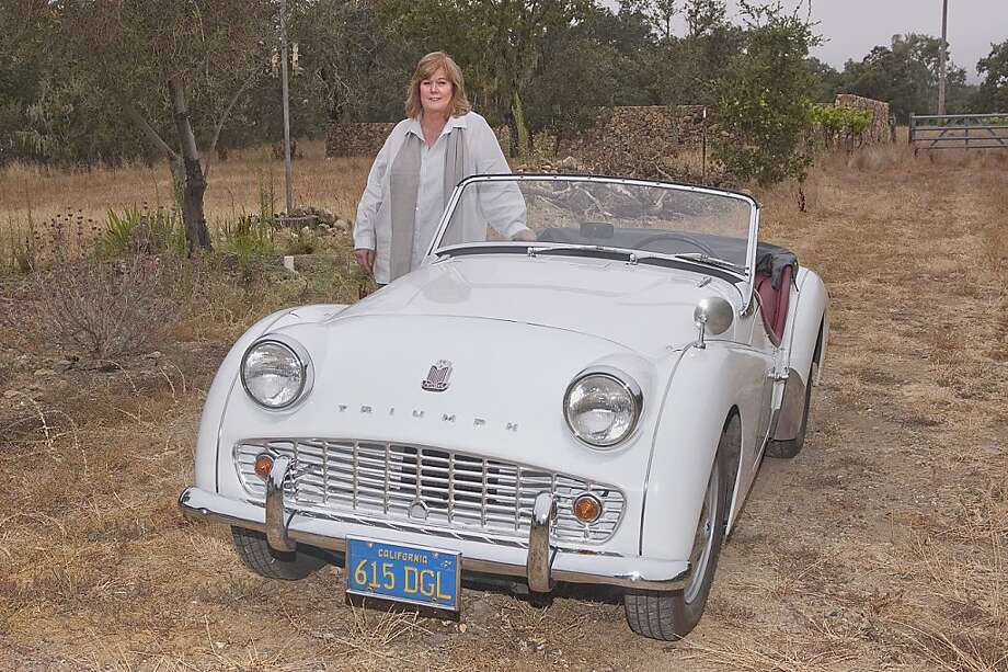 Photos of Sue Remick and her 1961 Triumph TR3A Sports Car photographed in the Sonoma Valley at her home in Glen Ellen, Sonoma Co., CA on August 22, 2011 Photo: Stephen Finerty