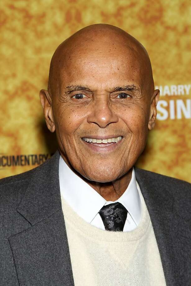 "In this Oct. 6, 2011 photo, actor Harry Belafonte poses at the New York Premiere of the HBO Documentary ""Sing Your Song"" about Belafonte's life at The ApolloTheater in New York. (AP Photo/Starpix, Marion Curtis) Photo: Marion Curtis, AP"