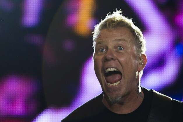 James Hetfield of Metallica performs during the Rock in Rio music festival in Rio de Janeiro, Brazil, Monday, Sept. 26, 2011. The festival, which runs through Oct. 2, includes performances by Katy Perry, Rihanna, Stevie Wonder, Red Hot Chili Peppers, Metallica, Guns N' Roses and Coldplay. (AP Photo/Felipe Dana)  Ran on: 10-12-2011 Photo caption Dummy text goes here. Dummy text goes here. Dummy text goes here. Dummy text goes here. Dummy text goes here. Dummy text goes here. Dummy text goes here. Dummy text goes here.###Photo: names12_hetfieldPH1316736000AP###Live Caption:James Hetfield of Metallica performs during the Rock in Rio music festival in Rio de Janeiro, Brazil, Monday, Sept. 26, 2011. The festival, which runs through Oct. 2, includes performances by Katy Perry, Rihanna, Stevie Wonder, Red Hot Chili Peppers, Metallica, Guns N' Roses and Coldplay.###Caption History:James Hetfield of Metallica performs during the Rock in Rio music festival in Rio de Janeiro, Brazil, Monday, Sept. 26, 2011. The festival, which runs through Oct. 2, includes performances by Katy Perry, Rihanna, Stevie Wonder, Red Hot Chili Peppers, Metallica, Guns N' Roses and Coldplay. (AP Photo-Felipe Dana)###Notes:James Hetfield###Special Instructions: Ran on: 10-12-2011 Photo caption Dummy text goes here. Dummy text goes here. Dummy text goes here. Dummy text goes here. Dummy text goes here. Dummy text goes here. Dummy text goes here. Dummy text goes here.###Photo: names12_hetfieldPH1316736000AP###Live Caption:James Hetfield of Metallica performs during the Rock in Rio music festival in Rio de Janeiro, Brazil, Monday, Sept. 26, 2011. The festival, which runs through Oct. 2, includes performances by Katy Perry, Rihanna, Stevie Wonder, Red Hot Chili Peppers, Metallica, Guns N' Roses and Coldplay.###Caption History:James Hetfield of Metallica Photo: Felipe Dana, AP