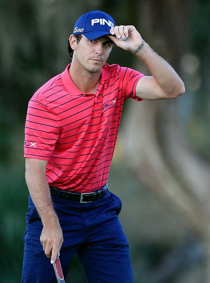 SEA ISLAND, GA - OCTOBER 14:  Billy Horschel reacts to a birdie putt on the 18th hole durng the second round of the McGladrey Classic at Sea Island's Seaside Course on October 14, 2011 in Sea Island, Georgia.  (Photo by Sam Greenwood/Getty Images) Photo: Sam Greenwood, Getty Images