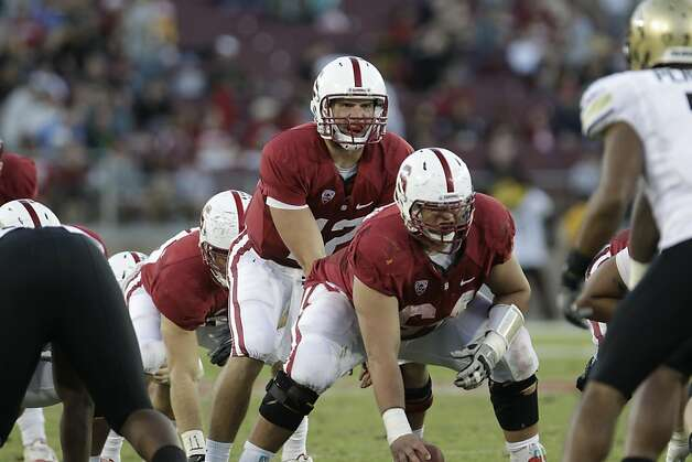 Stanford quarterback Andrew Luck (12) in the fourth quarter of an NCAA college football game in Stanford, Calif., Saturday, Oct. 8, 2011. (AP Photo/Paul Sakuma) Photo: Paul Sakuma, AP