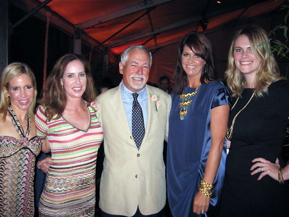 SF Rec & Park Commission President Mark Buell (center) with (from left) Party in the Park event chairs Lana Adair, Meg Betrero, Christine Gardner and Paige Barry Arata. Sept. 2011. By Catherine Bigelow. Photo: Catherine Bigelow, Special To The Chronicle