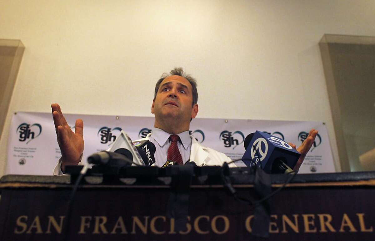 Dr. Geoff Manley, Chief of Neurosurgery, announces that patient Bryan Stow is being transferred to a undisclosed rehabilitation facility, Tuesday Oct. 10, 2011, at San Francisco General Hospital and Trauma Center in San Francisco, Calif.