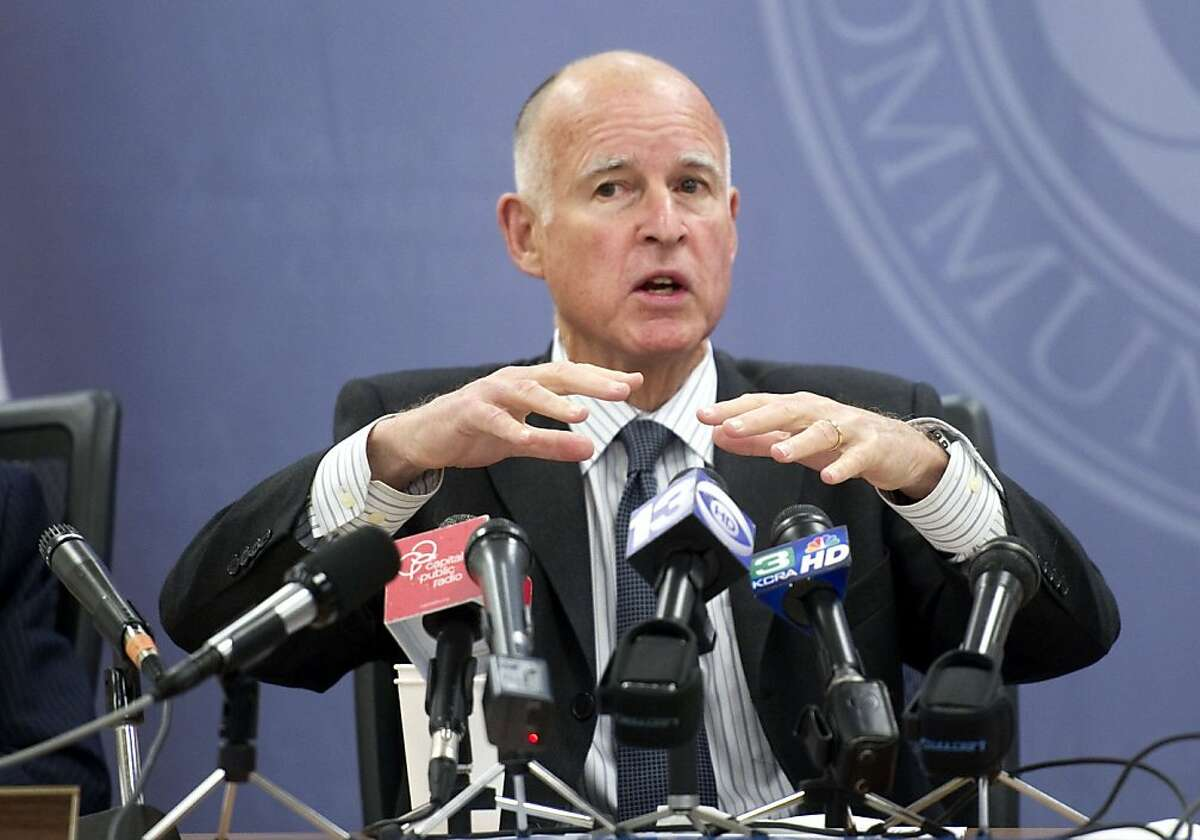 Gov. Jerry Brown, speaks to members of the California Community Colleges board of governors were he asked for help in getting Republicans to vote on a budget by his March 10 deadline on Monday morning, March 7, 2011, in Sacramento, Calif. (AP Photo/The Sacramento Bee, Hector Amezcua) MAGS OUT; TV OUT; NO SALES; MANDATORY CREDIT Ran on: 03-08-2011 Gov. Jerry Browns budget plan to close a $26.6 billion budget hole spares the wealthiest Californians an increase in individual taxes. Ran on: 03-08-2011 Gov. Jerry Browns budget plan to close a $26.6 billion budget hole spares the wealthiest Californians an increase in individual taxes.