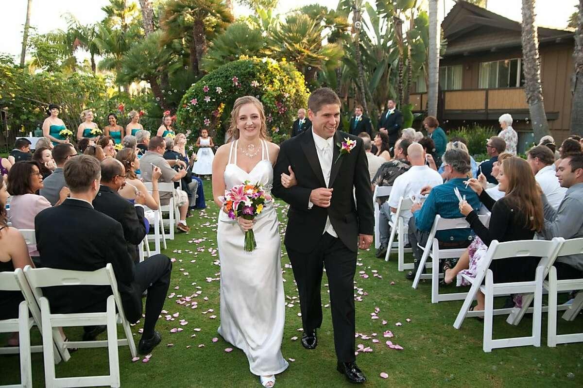 Danielle Lucien and Steve Thompson on their wedding day.