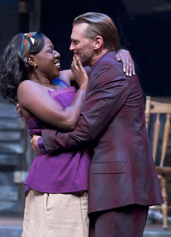 The wandering Jaffy (Jack Koenig, right) and his wife Clementine (Laiona Michelle) try to reconnect and rebuild in post-Katrina New Orleans Photo: Tracy Martin
