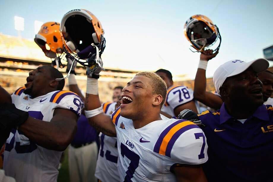 BATON ROUGE, LA - OCTOBER 08:  Tyrann Mathieu #7 of the Louisiana State University Tigers celebrates after defeating the Florida Gators 41-11 at Tiger Stadium on October 8, 2011 in Baton Rouge, Louisiana.  (Photo by Chris Graythen/Getty Images) *** BESTPIX *** Photo: Chris Graythen, Getty Images