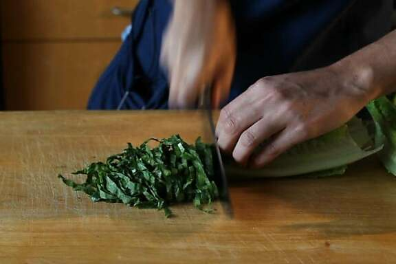 How to chiffonade by Amanda Gold, with the San Francisco Chronicle food department.