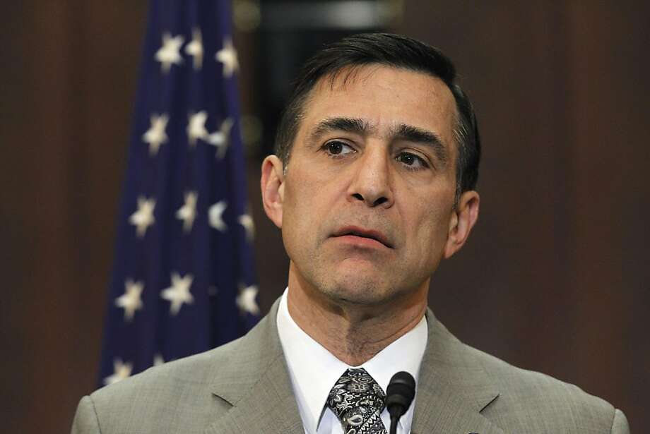 """Rep. Darrell Issa, R-Calif. takes part in a news conference on Capitol Hill in Washington, Wednesday, Feb. 16, 2011, to discuss the Government Accountability Office's (GAO) """"High Risk Series"""" report. (AP Photo/Alex Brandon) Photo: Alex Brandon, ASSOCIATED PRESS"""