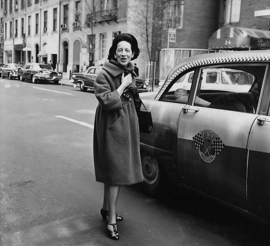 """This image of Diana Vreeland captured by an unknown photographer is included in """"Diana Vreeland: The Eye Has to Travel,"""" a collection of essays and images that encompassed the legendary fashion editor's career. Photo: Courtesy Of Conde Nast"""