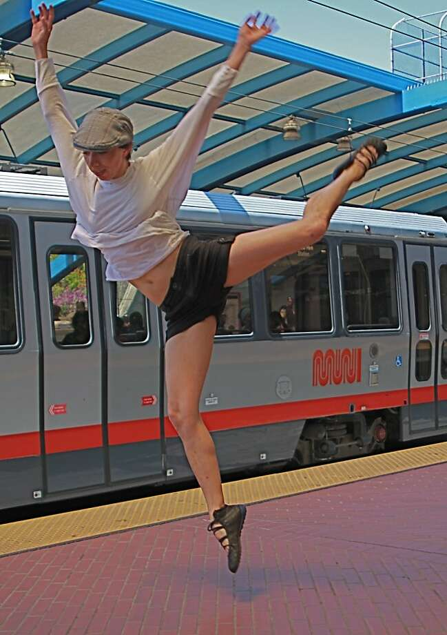 Christine Bonansea is dancing with Epiphany Productions Sonic Dance Theater at the Trolley Dances. Photo: Brenda Marie