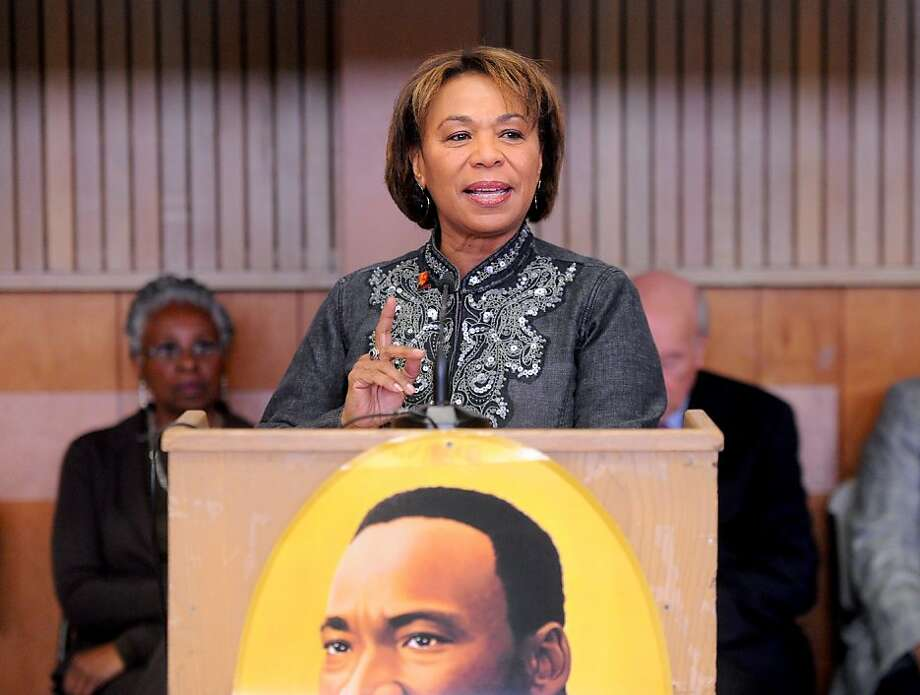 U.S. Congresswoman Barbara Lee (D - 9th District, Oakland) speaks at a Martin Luther King Day celebration on Monday, Jan. 17, 2011, in Oakland, Calif.  Ran on: 02-07-2011 Rep. Barbara Lee wants to see defense spending restrained and the military's global mission re-examined. Ran on: 02-07-2011 Rep. Barbara Lee wants to see defense spending restrained and the military's global mission re-examined. Ran on: 02-07-2011 Rep. Barbara Lee wants to see defense spending restrained and the military's global mission re-examined. Ran on: 02-22-2011 Barbara Lee Ran on: 02-22-2011 Barbara Lee  Ran on: 07-25-2011 Rep. Barbara Lee, D-Oakland. Photo: Noah Berger, Special To The Chronicle