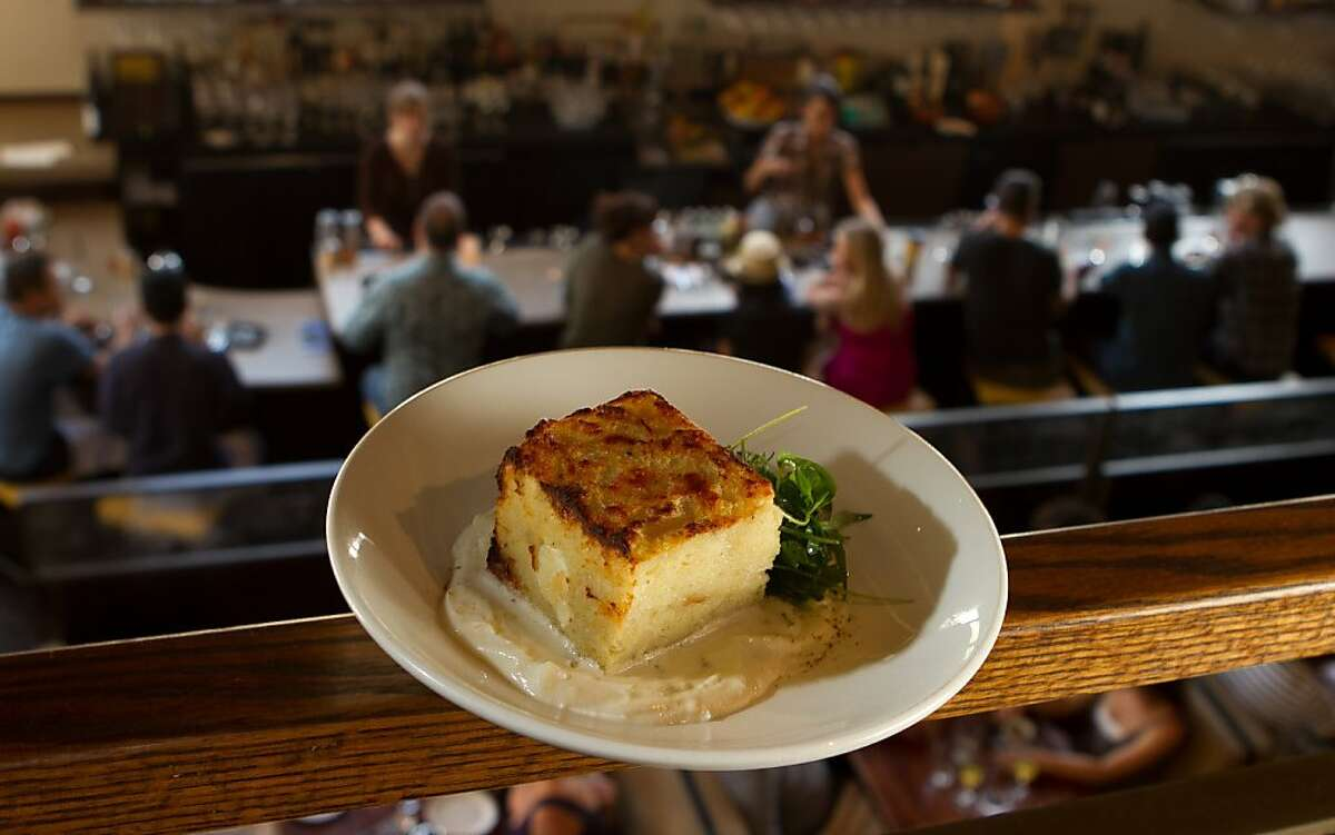 The Goat Cheese Bread Pudding for Brunch at Nopa in San Francisco, Calif., is seen on Sunday, October 2, 2011.