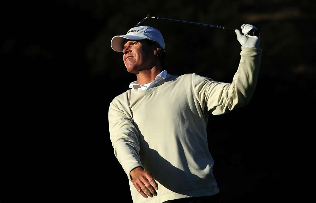 SAN MARTIN, CA - OCTOBER 08: Briny Baird makes a tee shot on the seventh hole during the second round of the Frys.com Open at the CordeValle Golf Club on October 8, 2011 in San Martin, California. (Photo by Robert Laberge/Getty Images)