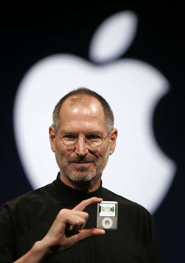 FILE - In this Sept. 5, 2007, file photo, Apple CEO Steve Jobs introduces the Apple Nano in San Francisco. Walter Isaacson's authorized biography of Steve Jobs comes out on Oct. 24. (AP Photo/Paul Sakuma, File)  Ran on: 10-08-2011 Photo caption Dummy text goes here. Dummy text goes here. Dummy text goes here. Dummy text goes here. Dummy text goes here. Dummy text goes here. Dummy text goes here. Dummy text goes here.###Photo: bennack06_PH1188777600AP###Live Caption:FILE - In this Sept. 5, 2007, file photo, Apple CEO Steve Jobs introduces the Apple Nano in San Francisco. Walter Isaacson's authorized biography of Steve Jobs comes out on Oct. 24.###Caption History:FILE - In this Sept. 5, 2007, file photo, Apple CEO Steve Jobs introduces the Apple Nano in San Francisco. Walter Isaacson's authorized biography of Steve Jobs comes out on Oct. 24. (AP Photo-Paul Sakuma, File)###Notes:Steve Jobs###Special Instructions:A  SEPT. 5, 2007, FILE PHOTO Photo: Paul Sakuma, AP 2007