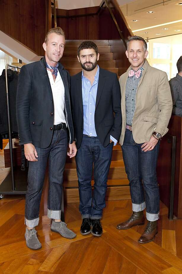 Michael Purdy, Alexandre Mattiussi and Jay Jeffers at the designer's launch event at Barneys New York.  Michael Purdy, Alexandre Mattiussi, Jay Jeffers Photo: Laura Morton, Drew Altizer Photography