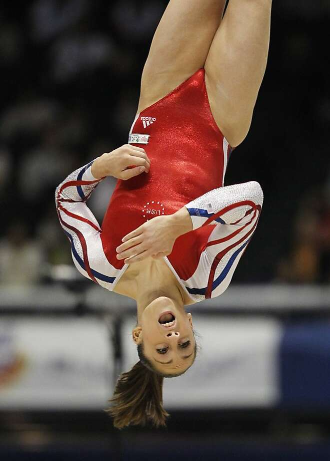 USA's Jordyn Wieber performs the floor exercise during the women's team final at  the Artistic Gymnastics World Championships in Tokyo, Japan, Tuesday, Oct. 11, 2011. (AP Photo/Koji Sasahara) Photo: Koji Sasahara, AP