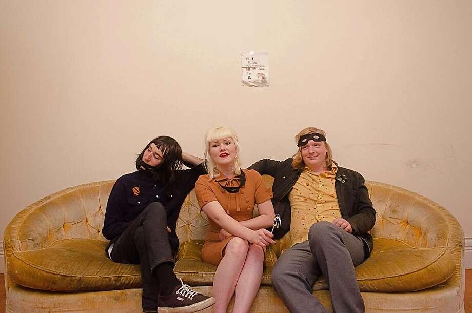 "POW!: Byron Blum (left), Melissa Blue, Matt ""Handsome"" Harrison. Photo: Nick Moone"