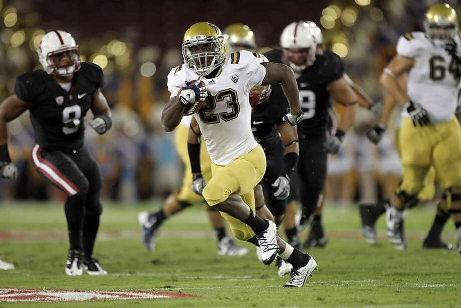 STANFORD, CA - OCTOBER 01:  Johnathan Franklin #23 of the UCLA Bruins runs with the ball against the Stanford Cardinal at Stanford Stadium on October 1, 2011 in Stanford, California.  (Photo by Ezra Shaw/Getty Images) Photo: Ezra Shaw, Getty Images