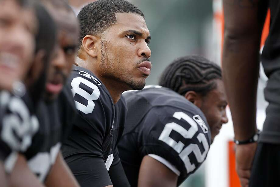 Oakland Raiders quarterback Jason Campbell after throwing two interceptions against the New England Patriots,  Sunday Oct. 2, 2011, at the O.com Coliseum in Oakland, Calif. Photo: Lacy Atkins, The Chronicle