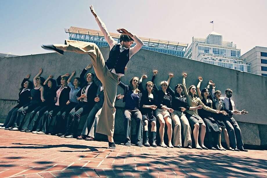 little seismic dance company performs in downtown san francisco, photo by Pak Han Photo: Pak Han
