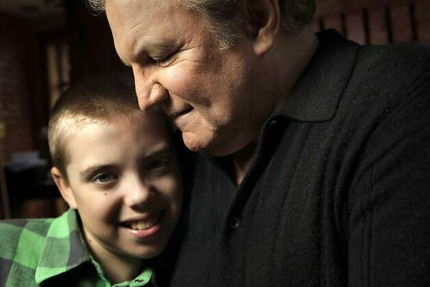 Ralph Barbieri and his 11-year-old son, Tate at their Novato, Ca. home, Ca. on Saturday October 1, 2011. Photo: Michael Macor, The Chronicle