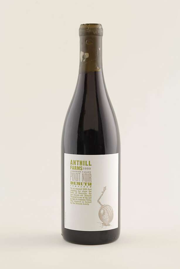 09 Anthill Farms Dermuth Vineyard Pinot Noir as seen in San Francisco, California on Wednesday, September 14, 2011.   Ran on: 10-09-2011 Photo caption Dummy text goes here. Dummy text goes here. Dummy text goes here. Dummy text goes here. Dummy text goes here. Dummy text goes here. Dummy text goes here. Dummy text goes here.###Photo: GRID09_anthill_ph1315785600SFC###Live Caption:09 Anthill Farms Dermuth Vineyard Pinot Noir as seen in San Francisco, California on Wednesday, September 14, 2011.###Caption History:09 Anthill Farms Dermuth Vineyard Pinot Noir as seen in San Francisco, California on Wednesday, September 14, 2011.###Notes:###Special Instructions:MANDATORY CREDIT FOR PHOTOG AND SF CHRONICLE-NO SALES-MAGS OUT-INTERNET__OUT-TV OUT Photo: Craig Lee, Special To The Chronicle