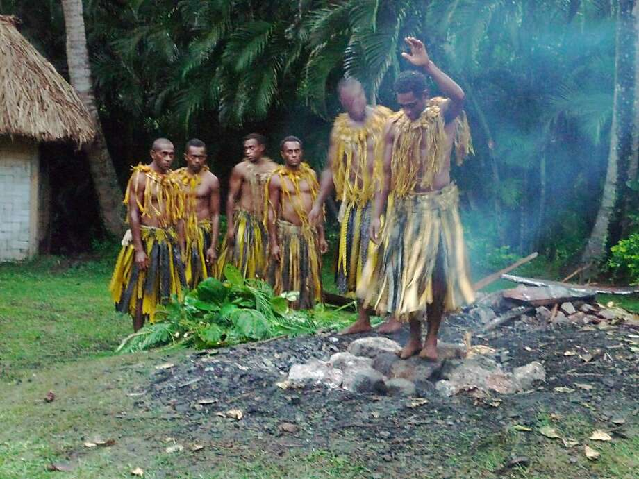 Fiji fire walkers wait their turn. Photo: Larry Habegger, Special To The Chronicle