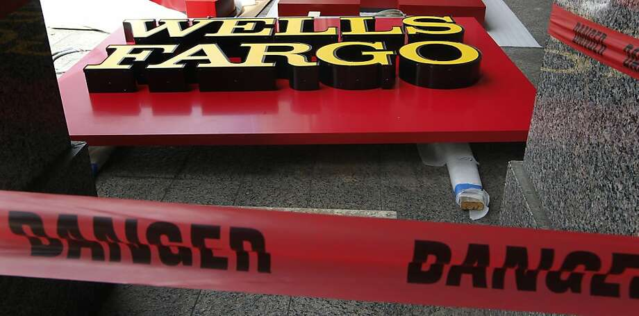 Wells Fargo signage awaits its turn to ride atop the former Wachovia building in downtown Raleigh, North Carolina, Monday, September 26, 2011. (Chuck Liddy/Raleigh News & Observer/MCT) Photo: Chuck Liddy, MCT