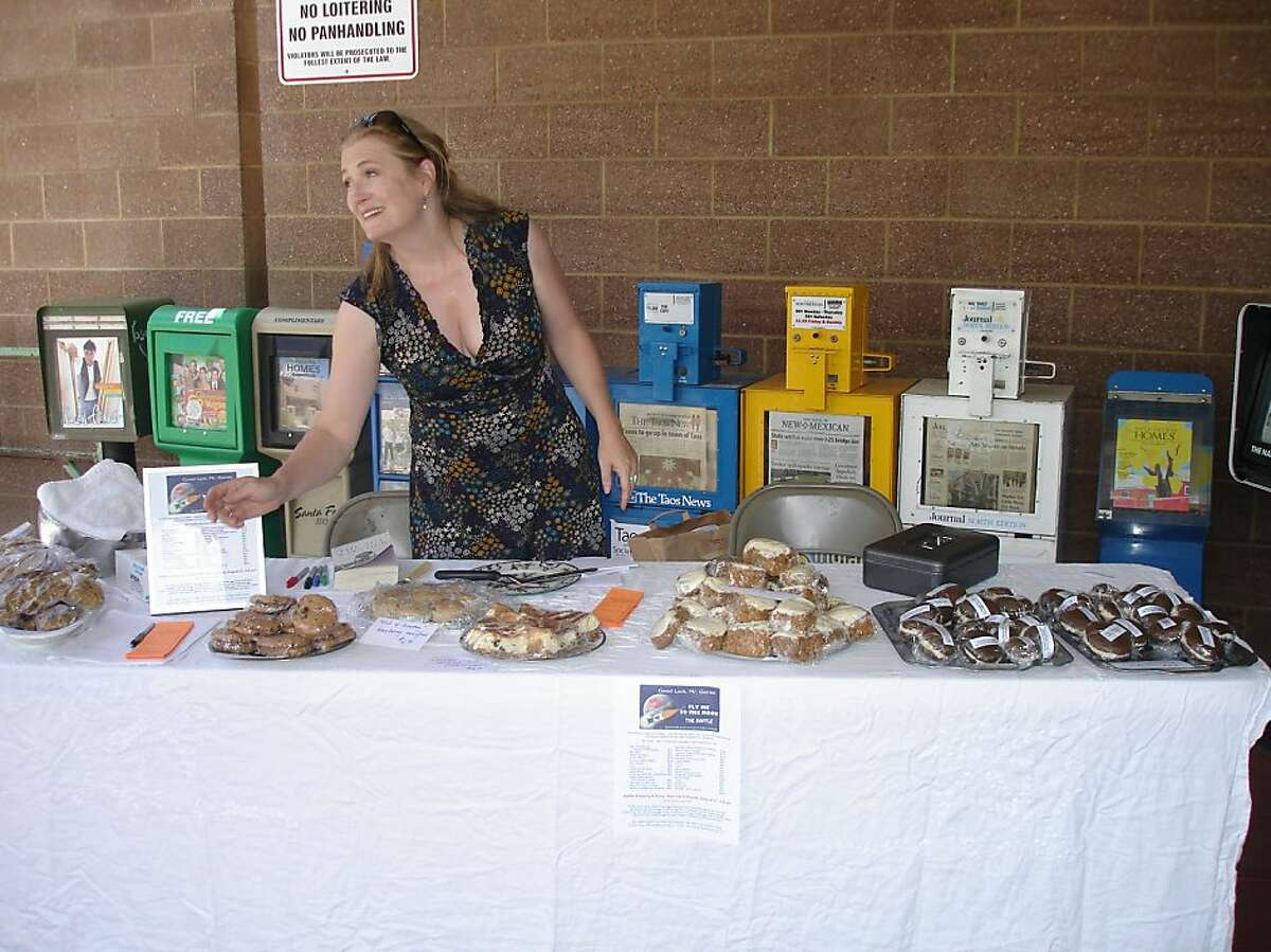 Allegra Huston at one of her bake sales. No photo credit. She's not sure who took it.