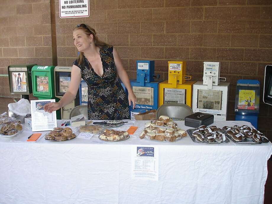 Allegra Huston at one of her bake sales. No photo credit. She's not sure who took it. Photo: Courtesty Allegra Huston