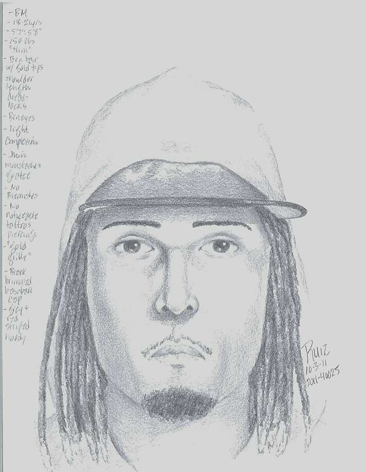 A police sketch of one of two men suspected in the killings of three people who attended a tattoo party in San Leandro on Oct. 2, 2011. Photo: San Leandro Police Department