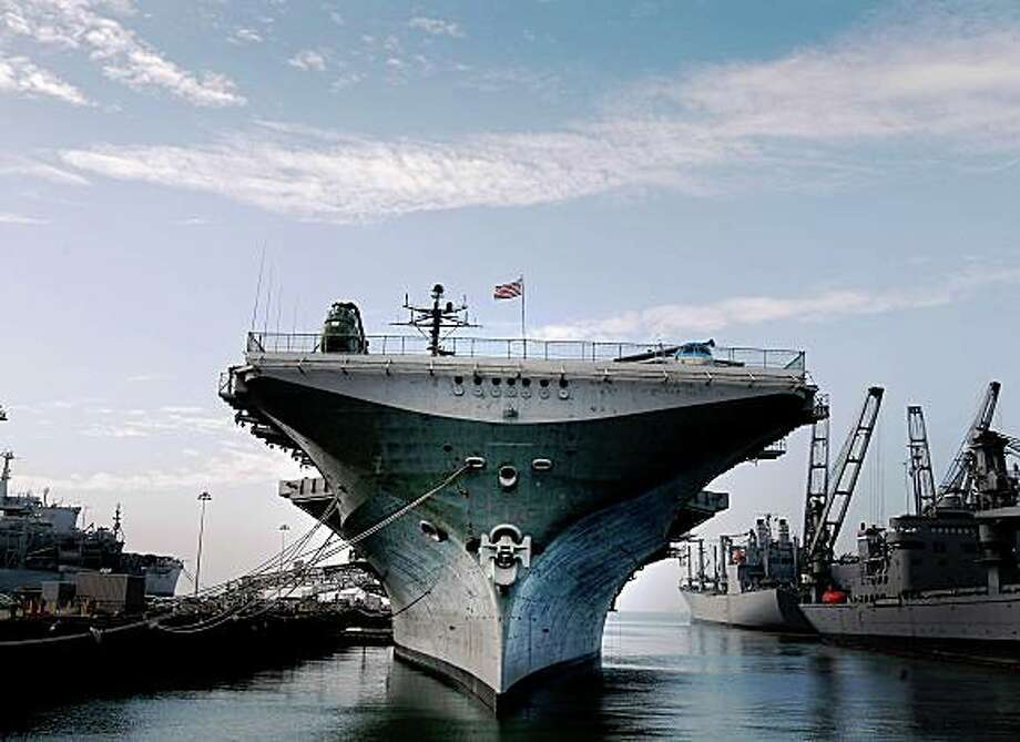 The USS Hornet, which is now a floating museum, is docked at Alameda Naval Air Station. A memorial service to honor World War II veterans and those who survived the Pearl Harbor attack 67 years ago was held on board the USS Hornet Sunday, December 7, 2008. Ran on: 02-01-2009 Ran on: 05-18-2009 Photo caption Dummy text goes here. Dummy text goes here. Dummy text goes here. Dummy text goes here. Dummy text goes here. Dummy text goes here. Dummy text goes here. Dummy text goes here.###Photo: 144_ships_ph81228608000SFC###Live Caption:The USS Hornet, which is now a floating museum, is docked at Alameda Naval Air Station. A memorial service to honor World War II veterans and those who survived the Pearl Harbor attack 67 years ago was held on board the USS Hornet Sunday, December 7, 2008.###Caption History:The USS Hornet, which is now a floating museum, is docked at Alameda Naval Air Station. A memorial service to honor World War II veterans and those who survived the Pearl Harbor attack 67 years ago was held on board the USS Hornet Sunday, December 7, 2008. Ran on: 02-01-2009###Notes:###Special Instructions:MANDATORY CREDIT FOR PHOTOG AND SF CHRONICLE-NO SALES-MAGS OUT-INTERNET OUT-TV OUT Ran on: 05-18-2009 Photo caption Dummy text goes here. Dummy text goes here. Dummy text goes here. Dummy text goes here. Dummy text goes here. Dummy text goes here. Dummy text goes here. Dummy text goes here.###Photo: 144_ships_ph81228608000SFC###Live Caption:The USS Hornet, which is now a floating museum, is docked at Alameda Naval Air Station. A memorial service to honor World War II veterans and those who survived the Pearl Harbor attack 67 years ago was held on board the USS Hornet Sunday, December 7, 2008.###Caption History:The USS Hornet, which is now a floating museum, is docked at Alameda Naval Air Station. A memorial service to ho Photo: Brant Ward, The Chronicle