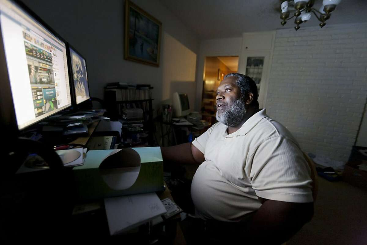 Preston Venzant, who lost his job repairing commercial kitchen equipment, has decided not to apply for unemployment, at home in Houston, Oct. 5, 2011. The president wants to continue offering benefits for an extended period of time, which is now at a maximum of 99 weeks, with his new jobs bill. (Michael Stravato/The New York Times) Ran on: 10-08-2011 Preston Venzant, at his home in Houston, lost his job repairing kitchen equipment, but has decided not to apply for unemployment.