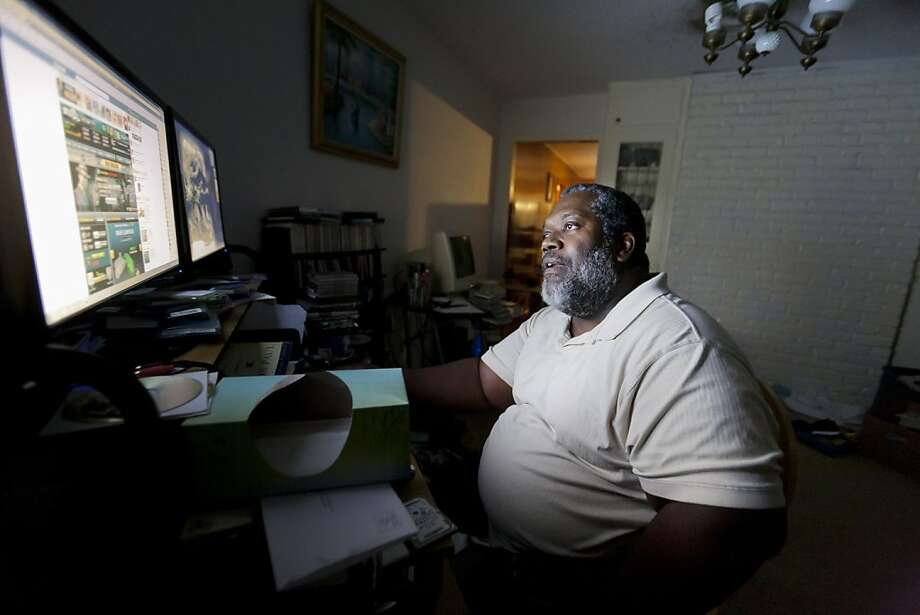Preston Venzant, who lost his job repairing commercial kitchen equipment,  has decided not to apply for unemployment, at home in Houston, Oct. 5, 2011. The president wants to continue offering benefits for an extended period of time, which is now at a maximum of 99 weeks, with his new jobs bill. (Michael Stravato/The New York Times)  Ran on: 10-08-2011 Preston Venzant, at his home in Houston, lost his job repairing kitchen equipment, but has decided not to apply for unemployment. Photo: Michael Stravato, The New York Times